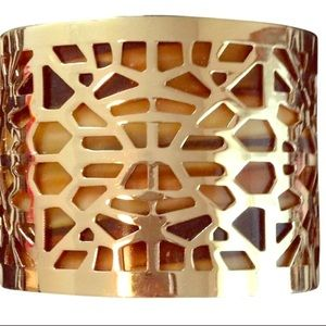 Original BCBGMAXAZRIA tortoise brown gold cuff
